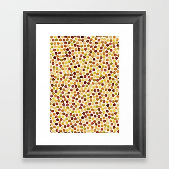 Watercolor Dots_Amber Framed Art Print