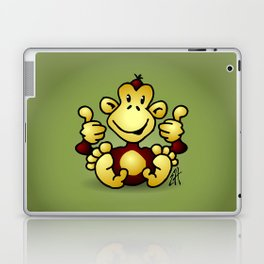 Manic Monkey with 4 thumbs up Laptop & iPad Skin
