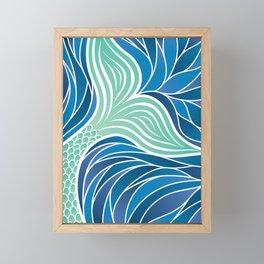 Green Mermaid's Tail Framed Mini Art Print
