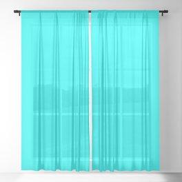 color aqua / cyan Sheer Curtain