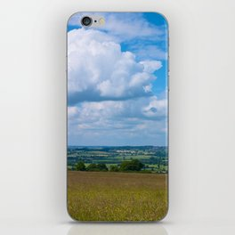 Looking across the Cotswolds, England iPhone Skin