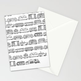 Marco's train - Black Stationery Cards