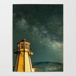 Mountain Light House Poster
