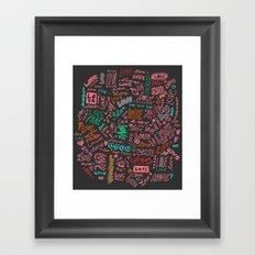 Love Love Love - ballpoint doodles - 2 Framed Art Print