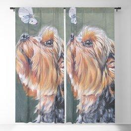 A realistic Yorkshire Terrier Portrait by L.A.Shepard fine art painting Blackout Curtain