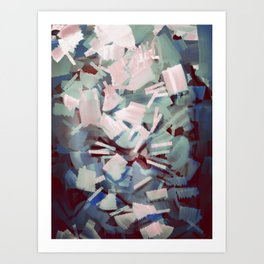 Abstract Stone Chaos Art Print