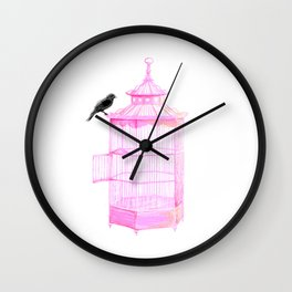 Brooke Figer - PRETTY smart BIRD Wall Clock
