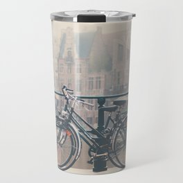 a bicycle date in Ghent Travel Mug
