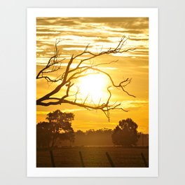 the heart of sunset Art Print
