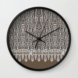 Dark Coffee Macramé Arrowhead Lace Pattern Wall Clock