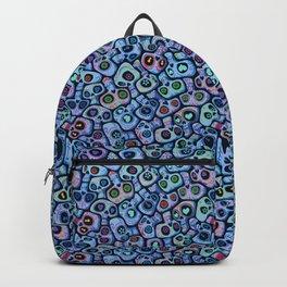 Calaveras del Dia de los Muertos azules. Backpack