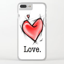 True Love Lasts Forever Clear iPhone Case