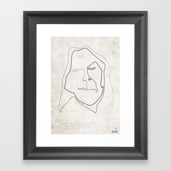 One line Neil Young Framed Art Print