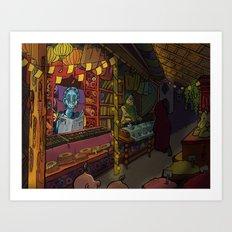 night bazaar Art Print