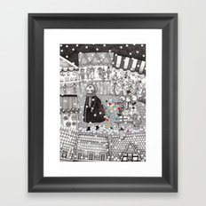 After Hours at the Christmas Market Framed Art Print