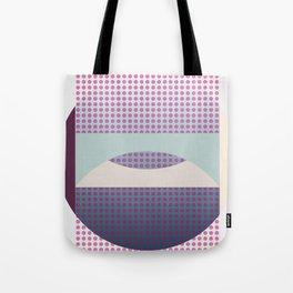 Purple Fog, Geometric Landscape Tote Bag