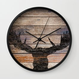 Rustic Black Moose Silhouette A424b Wall Clock
