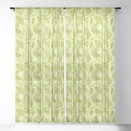 summer to fall fox Sheer Curtain