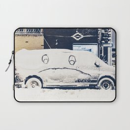 Snowy Mad Truck Laptop Sleeve