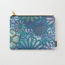 Metallic Daisies Carry-All Pouch
