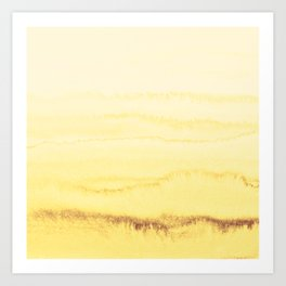 WITHIN THE TIDES - SUNNY YELLOW Art Print