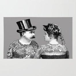 Tattooed Victorian Lovers Rug