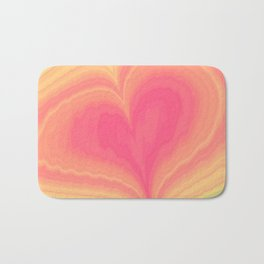 Abstract Tropical Pastel Rainbow Heart Pattern | Valentine's Day Bath Mat