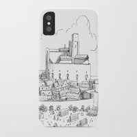 castle iPhone & iPod Cases featuring Castle by Mr.Willow