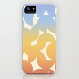 Abstract Shapes - Retro Rainbow iPhone Case