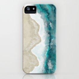 Waves, Beach, Ocean, Blue, Sandy iPhone Case
