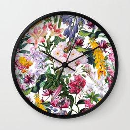 Vintage Garden X Wall Clock