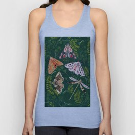 Moths and dragonfly Unisex Tank Top