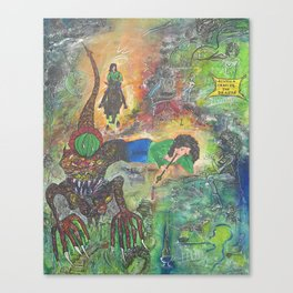 alwella chasing the dragon Canvas Print