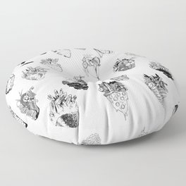 The Anatomy of a Heart Pattern Floor Pillow