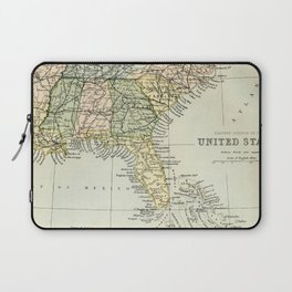 Vintage Map of the South Of The United States Of America Laptop Sleeve