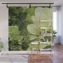 """""""Greenery Leaves at the Spring Garden"""" Wall Mural"""