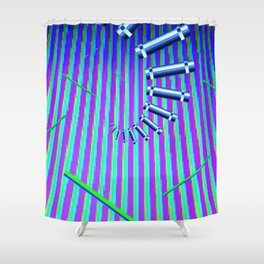DOS Prompts and Dream Scapes Shower Curtain
