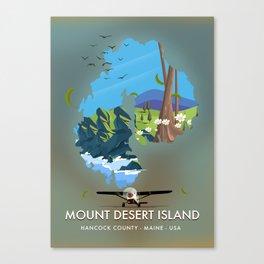 Mount Desert Island ,Hancock County, Maine ,USA Canvas Print