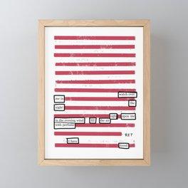 I Have Loved Framed Mini Art Print