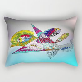 fantastic geometrical forms -3- Rectangular Pillow