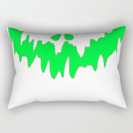 Scary Face Halloween Tshirt- Glow in the Dark Effect Print Rectangular Pillow
