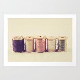 Soft Wooden Spools Art Print