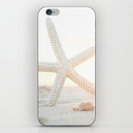 White Starfish iPhone Skin