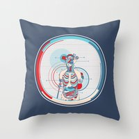 anatomy Throw Pillows featuring Anatomy by infloence