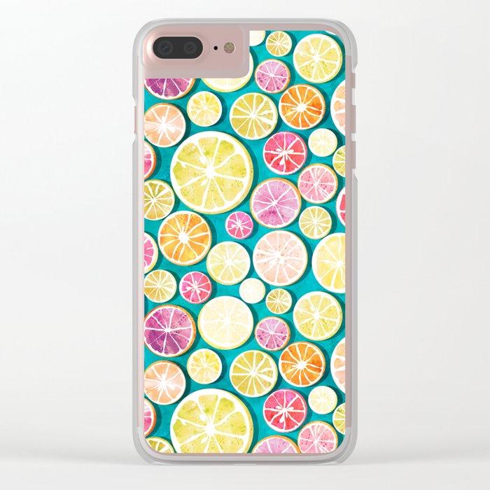 Citrus bath Clear iPhone Case