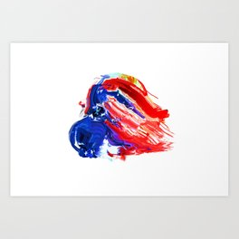 American Flag Study No. 8 Art Print