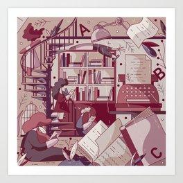 Literature Art Print