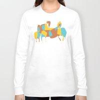 horses Long Sleeve T-shirts featuring Horses by Pablo Correa