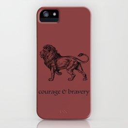 courage & bravery (Hogwarts houses) iPhone Case