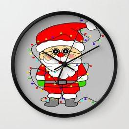 Silly Santa Wall Clock